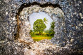 Keyhole view of nature Royalty Free Stock Photo
