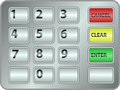 Keypad atm clip art illustration Royalty Free Stock Image