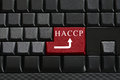 Keypad of black keyboard and have text HACCP on enter button. Royalty Free Stock Photo