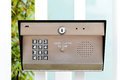 Keypad entry image of a business security Royalty Free Stock Photos