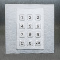 Keypad, numbers and key smbol - door security system Royalty Free Stock Photo