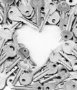 Keys around the heart Stock Photography
