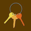 Keys in a bunch illustration Royalty Free Stock Photos