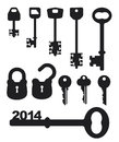Keys bunch of vector eps Stock Image