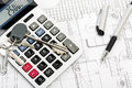 Keys on calculator Royalty Free Stock Photo