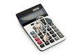 Keys on calculator Royalty Free Stock Photo