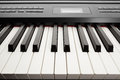 Keys of digital piano synthesizer closeup view Royalty Free Stock Photos