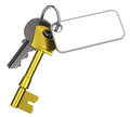 Keys with keychain d generated picture of two a Royalty Free Stock Photo