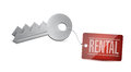 Keys for rental concept illustration design over white Royalty Free Stock Photography