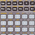 Keys of scientific calculator Royalty Free Stock Image