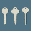 Keys set of vector illustration Stock Photos