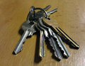 Keys on the table Royalty Free Stock Photo