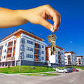 Keys to new apartment brand Royalty Free Stock Images
