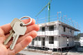 Keys to new home real estate agent offer Royalty Free Stock Image