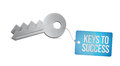 Keys to success illustration design over a white background Stock Image