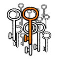 Keys (vector) Royalty Free Stock Photography