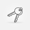 Keys vector icon Royalty Free Stock Photo
