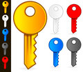 Keys vectors stylish modern key icons in colors Royalty Free Stock Photos