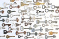 Keys on  white background Royalty Free Stock Photo