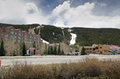 Keystone colorado mountains covered with snow in Stock Image