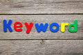 Keyword word made of colorful magnets Royalty Free Stock Image