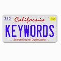 Keywords on License Plate Royalty Free Stock Photo