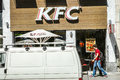 Kfc fastfood restaurant in a street copy space on the truck Stock Images