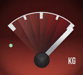 Kg weight gas tank illustration design graphic Royalty Free Stock Image