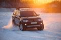 KHABAROVSK, RUSSIA - JANUARY 28, 2017: Mitsubishi Pajero Sport m Royalty Free Stock Photo