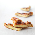 Khachapuri bread freshly baked pieces Royalty Free Stock Images