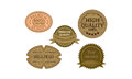 Khaki promotion badges that can be used for discount sales and products label Royalty Free Stock Photography
