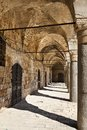 Khan al umdan translation inn of the columns in the old town of acco is the largest and best preserved khan in israel Royalty Free Stock Photos