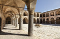 Khan al umdan translation inn of the columns in the old town of acco is the largest and best preserved khan in israel Royalty Free Stock Photo