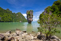 Khao Phing Kan called James Bond island Royalty Free Stock Images