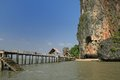 Khao phing kan island thailand in phang nga bay home of james bond in the man with the golden gun Stock Photography
