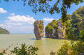 Khao phing kan rock island in thailand Royalty Free Stock Image