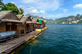 Khao sok national park mountain and lake in thailand Royalty Free Stock Images