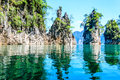 Khao sok national park surat thani province thailand guilin of thailand beautiful mountain surrounded by water natural attractions Stock Images