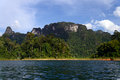 Khao sok national park thailand cheo lan lake Stock Photo