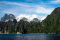 Khao sok national park thailand cheo lan lake Royalty Free Stock Photography