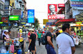 Khaosan road in the evening Stock Image