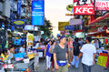 Khaosan road in the evening Royalty Free Stock Images