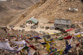 Khardung La-Durchlauf, Ladakh, Indien Stockfotografie