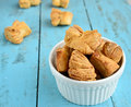 Khari biscuit made from flour butter and salt Royalty Free Stock Image