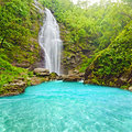 Khe Kem Waterfall Royalty Free Stock Images