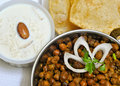 Kheer Puri and Chole Royalty Free Stock Photo