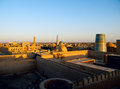 Khiva at sunset Stock Photo