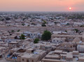 Khiva town from above Royalty Free Stock Photography