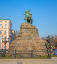 The khmelnytsky monument in kiev installed center of sofia square kyiv Royalty Free Stock Photo