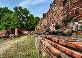 Khmer cultural sites in ayutthaya Royalty Free Stock Images